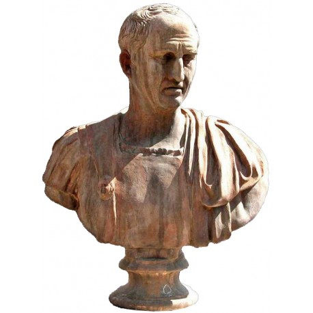 Cicerone, busto di terracotta