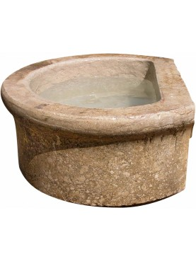 Great ancient round stone sink