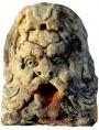Mascherone da giardino in pietra