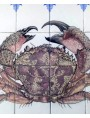 Granchio Favollo - pannello di maiolica 24 piastrelle