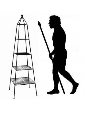 Etager piramidale portavasi ferro battuto