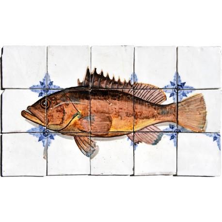 Nassau grouper maiolica pannello