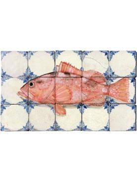 Caribbean Red Grouper tiles panel 15 tiles