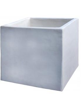 Cassetta in terracotta bianca quadrata 40 X 40 X 40 cm