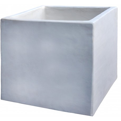 Cassetta in terracotta quadrata terracotta bianca