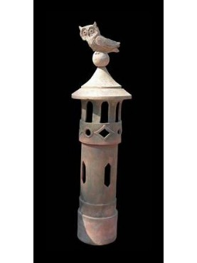 Chimney pot from Pistoia Øint.17cms with Scops Owl