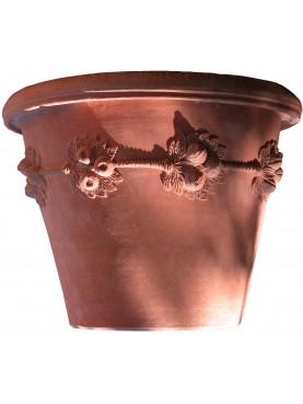 Della Robbia vase Ø63cms Impruneta Clay