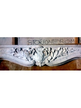 Pinarelli marble fireplace