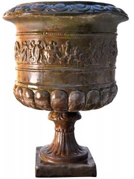Vaso rinascimentalein terracotta patinata a bronzo