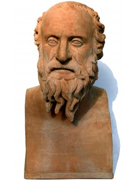 Diogenes from Sinope philosopher terracotta erma bust