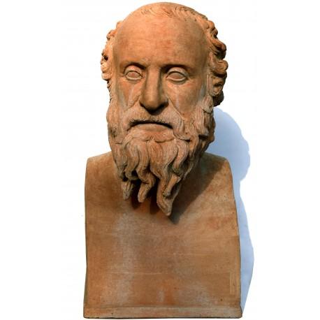 Diogene di Sinope erma busto in terracotta - filosofo