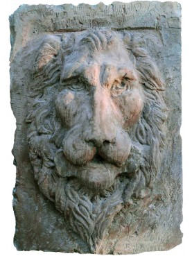 Concrete Lion Head fountain mask