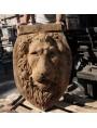 Concrete Lion Head fountain mask