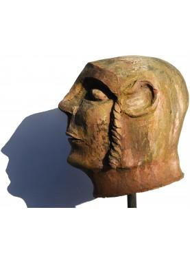 Canopo etrusco riproduzione in terracotta di un canopo del museo archeologico Firenze