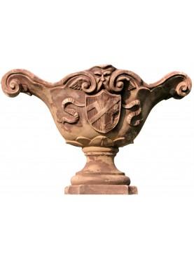 Da un calco della fornace della famiglia Altoviti vaso in terracotta rinascimentale a barca
