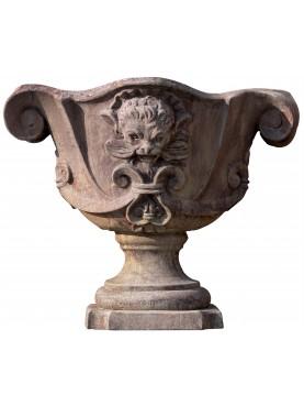 Vaso ornamentale in terracotta della famiglia Altoviti fornace la Chiocciola Firenze