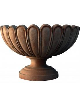 Coppa smerlata baccellata in terracotta