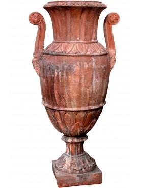 Vaso Impero Toscano con anse - terracotta Impruneta Firenze