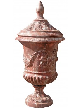 Vanvitelli vase in terracotta cup calix