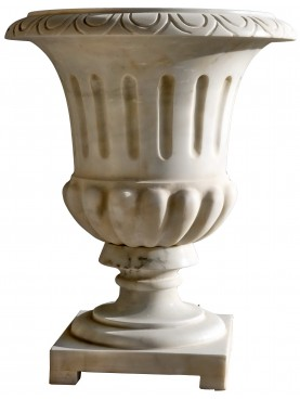 Vasi in marmo bianco di Carrara fatti a mano - calici ornamentali