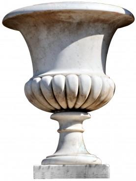 Vasi in marmo bianco di Carrara MEDICEO BACCELLATO