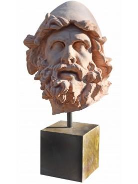 Testa di Ulisse in terracotta