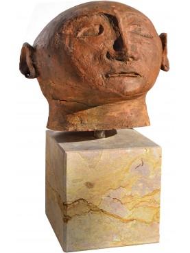 canopo etrusco riproduzione in terracotta museo archeologico Firenze