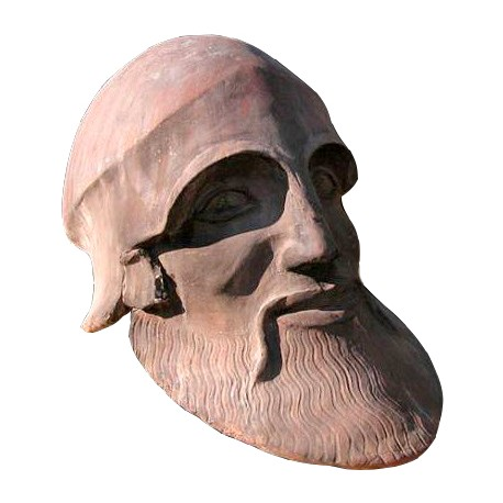 The dying warrior terracotta head from Temple of Aphaia
