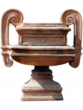 Coppa quadrata neoclassica palazzo reale di Napoli terracotta