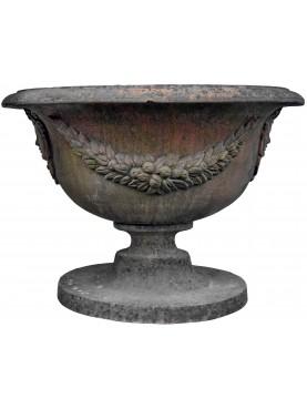 Vaso in terracotta ovale fonderie di Follonica calice