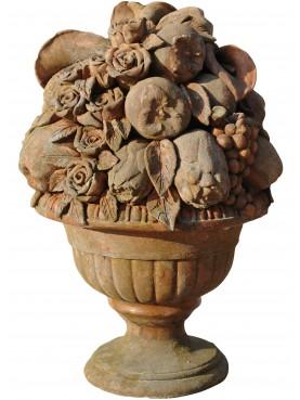 Vase of fruits terracotta Impruneta