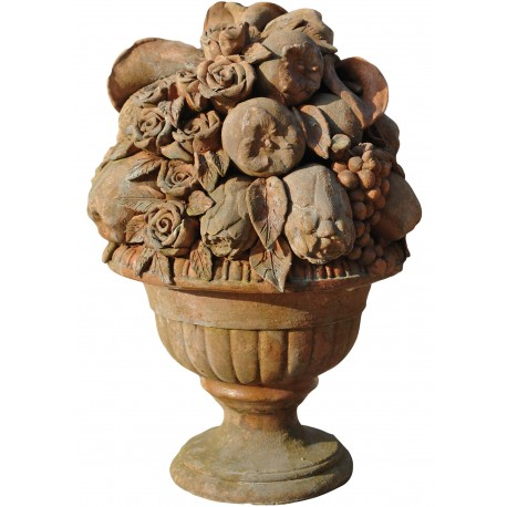 Trionfo di frutta terracotta Impruneta