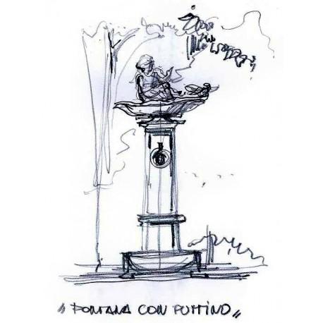 Sketch by Architect Giorgio Radice - Milan