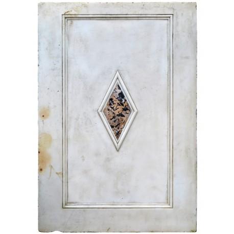 Pannello di marmo bianco intarsiato con le croci delle 4 repubblche marinare