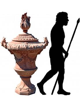 Grande vaso ornamentale in terracotta