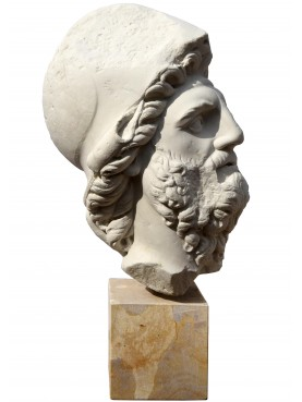 Menelao head, plaster cast, Roman copy from a Florence famouse Menelao statue