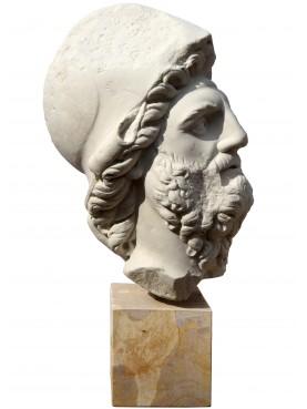 Menelao, testa in gesso copia di un originale greco da Firenze