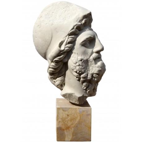 Menelao head, plaster cast, Roman copy from a Florence famouse Menelao statue