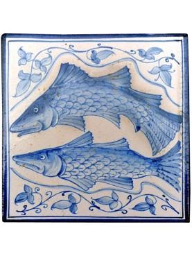 Majolica tiles - fishes from Villa d'Este -Tivoli (Rome)