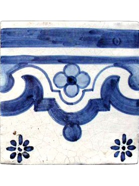 Portuguese frame azulejos majolica tile