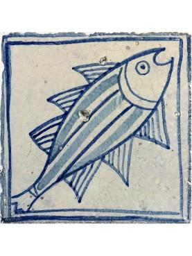 Piastrella di nostra produzione pesce miolica