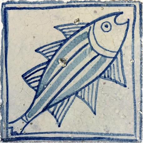 Majolica fishes tile - Avignon tiles