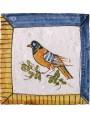 Caltagirone bird majolica tile - small bird panel