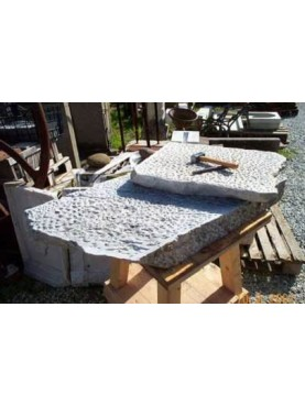 Marble pavement subbiato texturing