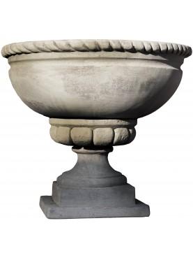 Vaso rotondo con tortiglione terracotta Impruneta