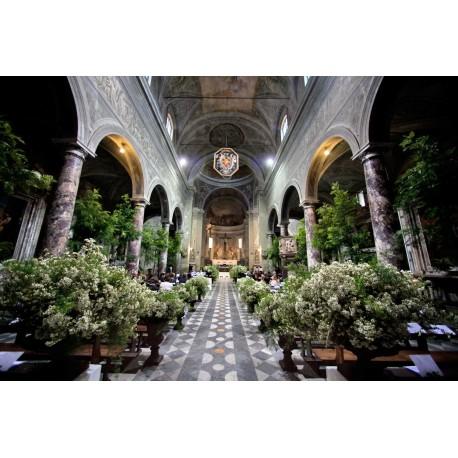 """Noleggio vasi Medicei per un matrimonio in una antica chiesa """"Medicea"""""""