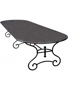 Great forged iron table with french legs