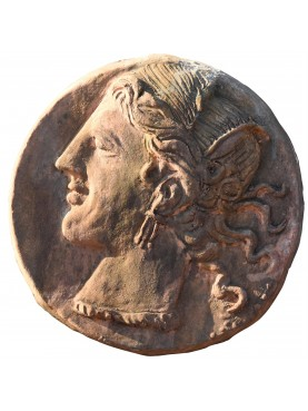 Lisimaco terracotta roundel - Alexander the great head