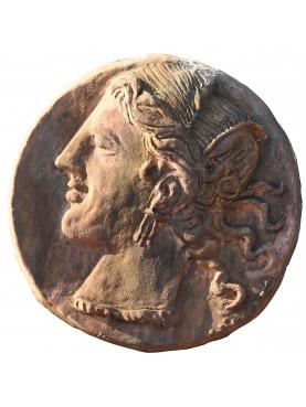 Tondo di Lisimaco in terracotta - statere testa di Alessandro Magno