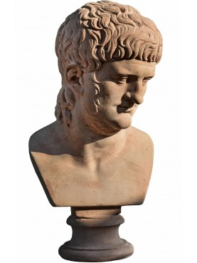 Terracotta Nero Bust - copy of Musei Capitolini bust